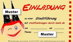 Muster-Einladung zu einer Stadtführung durch Köln